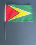 Guyana Country Hand Flag - Medium (stitched).